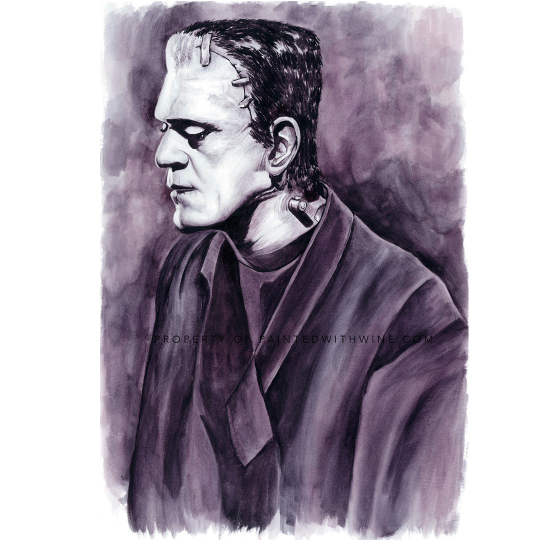 Frankenstein Monster – Framed Original