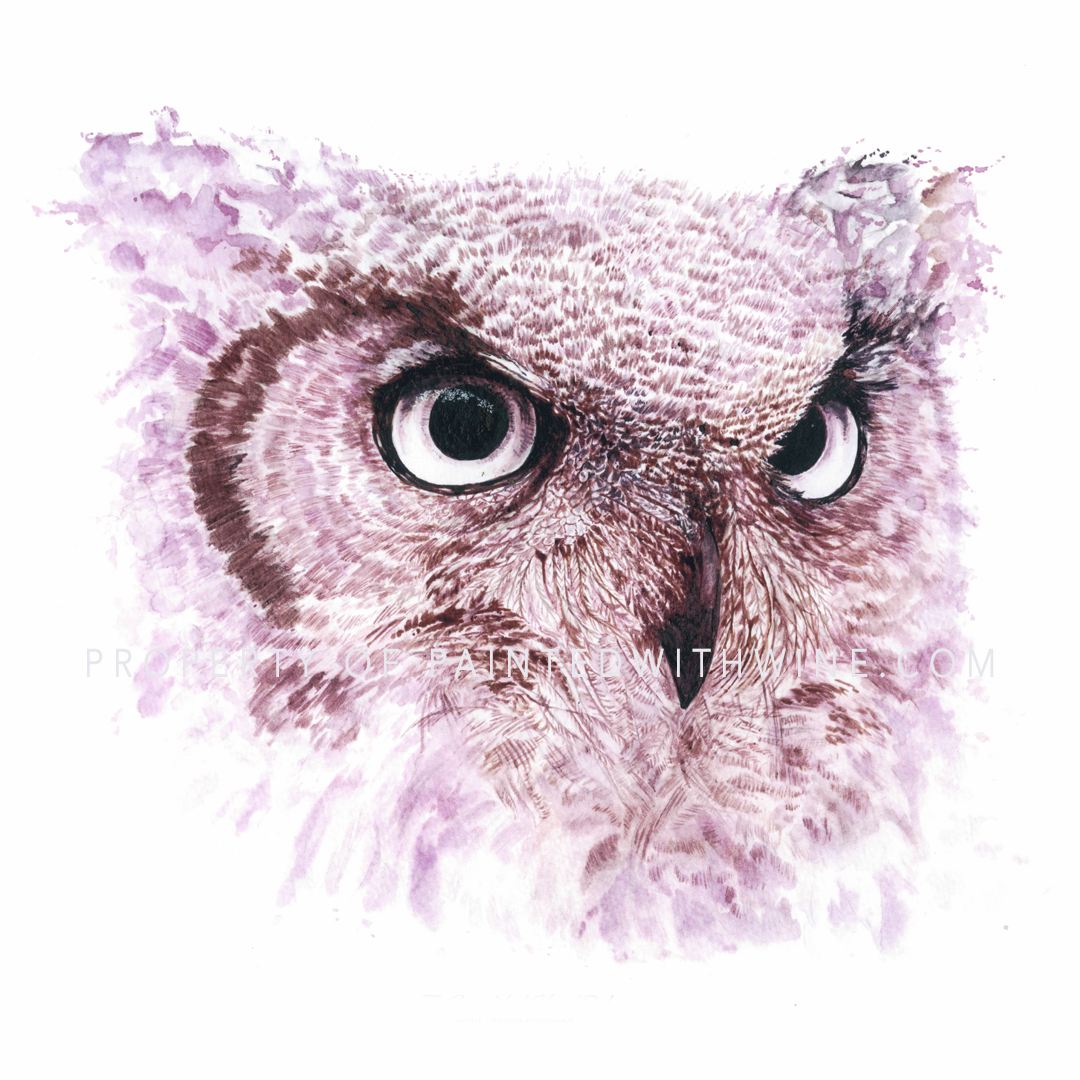 The Great North Horned Owl – Framed Original
