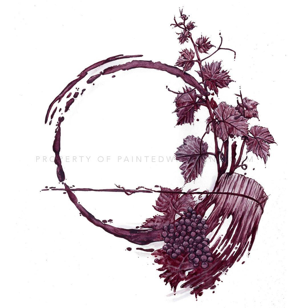 Wine Spills Into Art