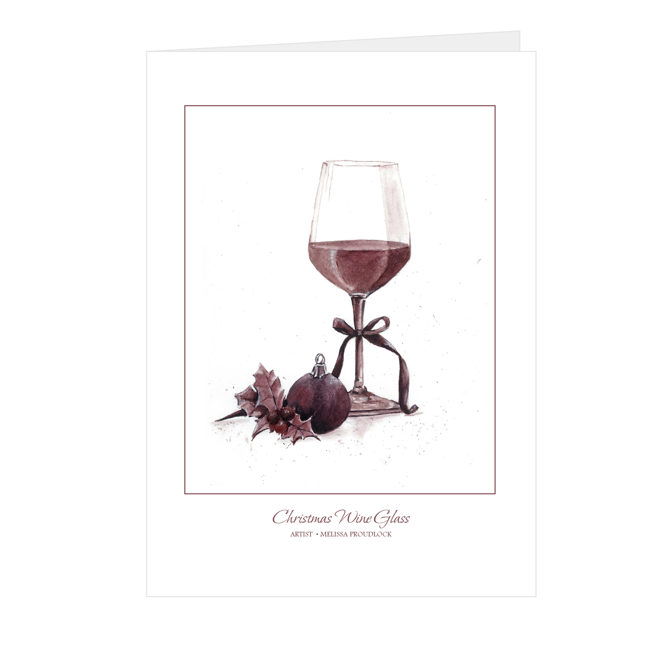 Christmas Wine Glass Card