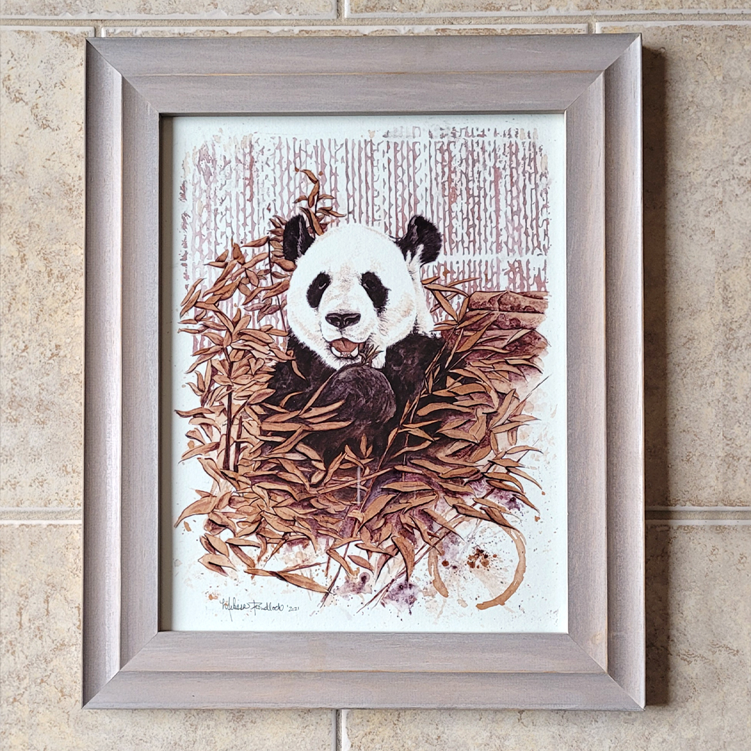 Panda Bear – Framed Original